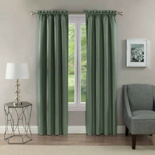"""Nip (2) Eclipse Samara Blackout Energy Efficient Curtain Panels 42 X 63"""" Forest Within Forest Valance And Tier Pair Curtains (View 12 of 25)"""