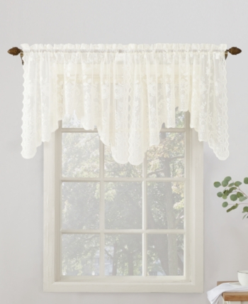 Featured Image of Ivory Micro Striped Semi Sheer Window Curtain Pieces