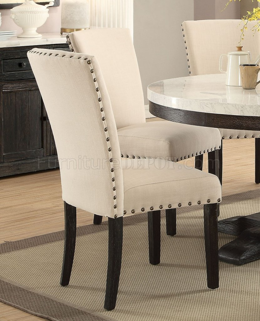 Nolan Dining Table 72845 5Pc Set In Weathered Blackacme For Most Recently Released Nolan Round Pedestal Dining Tables (View 12 of 25)