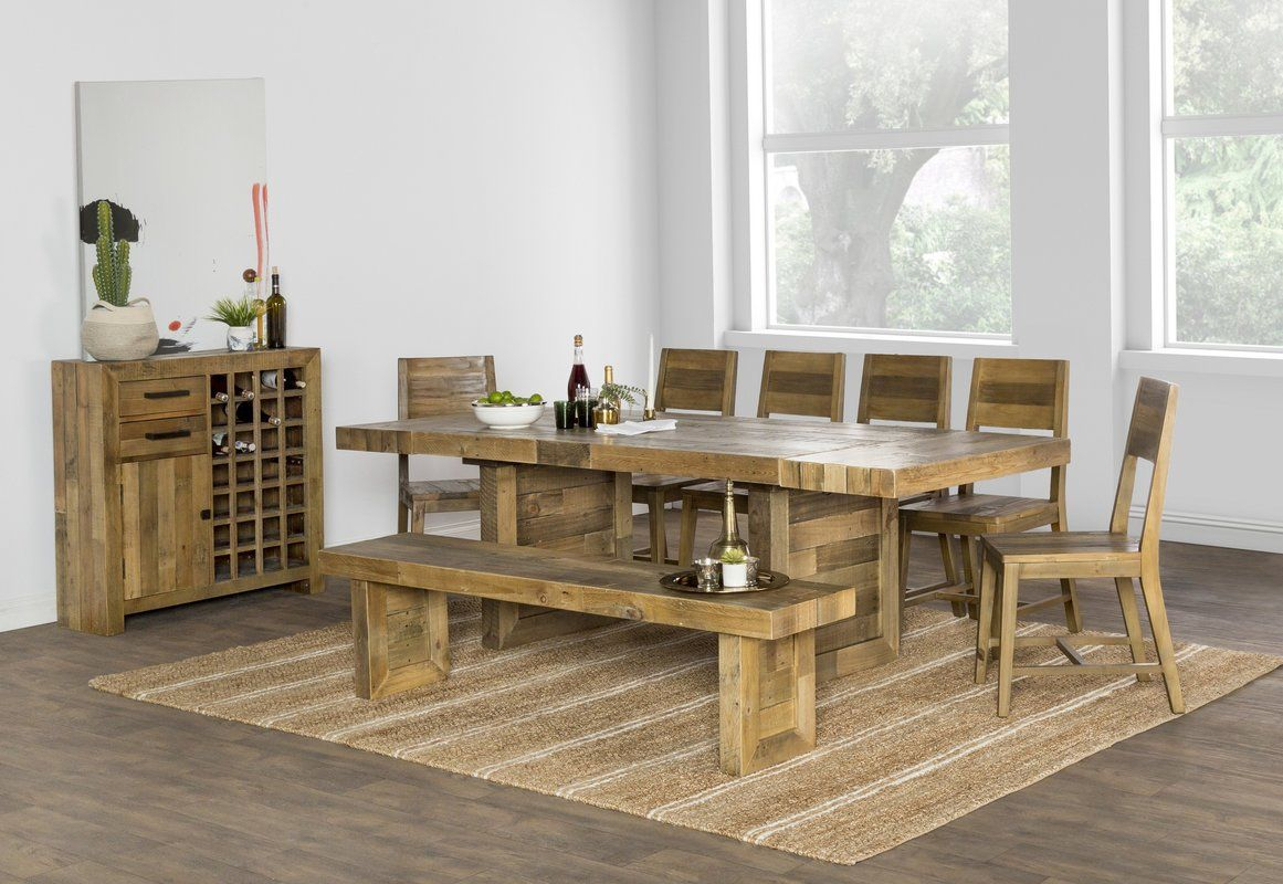 Norman Extendable Dining Table In 2019 | Solid Wood Dining Throughout Most Popular Thalia Dining Tables (View 11 of 25)