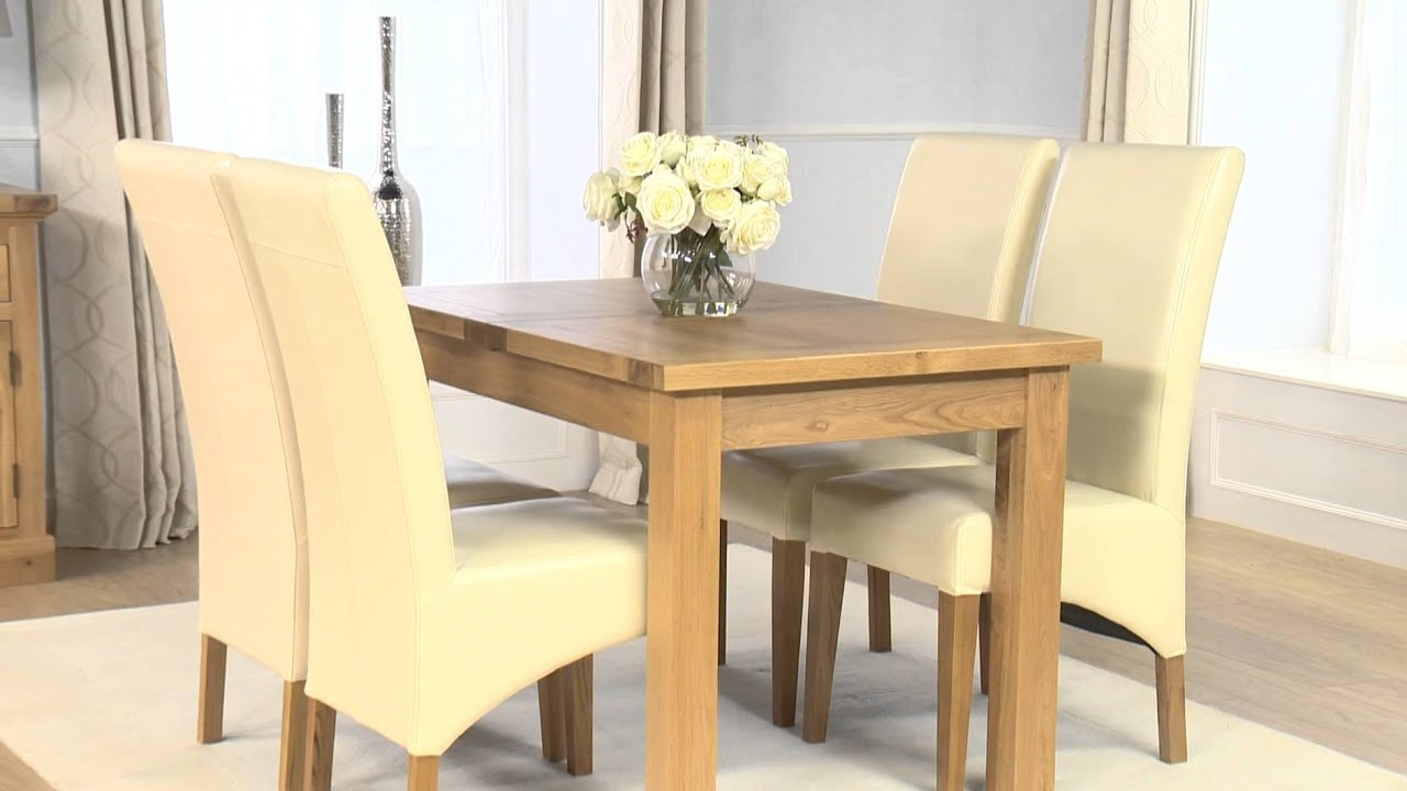 Normandy 120Cm Extending Dining Set – Cannes Cream Intended For Latest Normandy Extending Dining Tables (View 13 of 25)