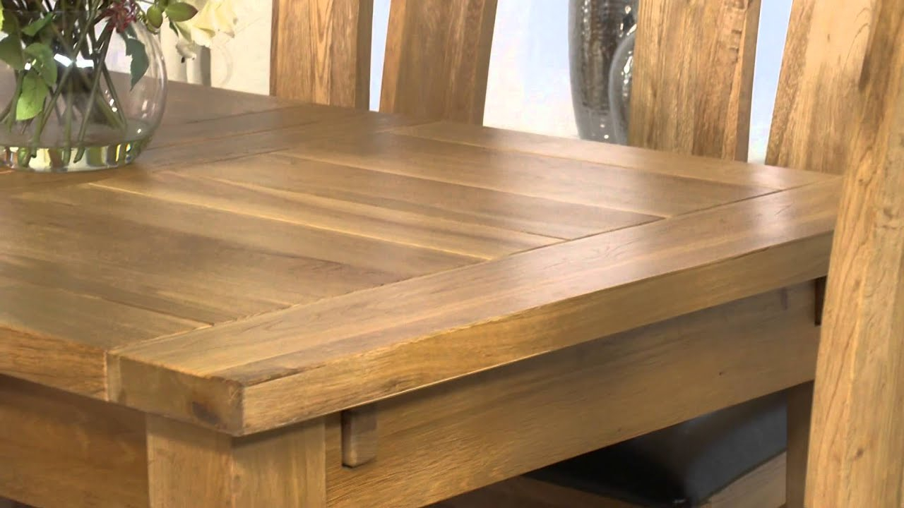 Normandy Solid Oak 150Cm Extending Dining Table And Montreal Chairs – Ofstv With Current Normandy Extending Dining Tables (View 7 of 25)