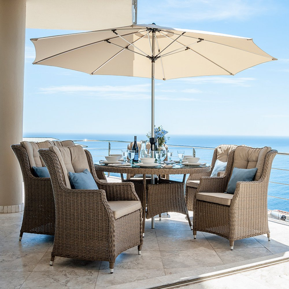 Nova – Thalia 6 Seat Rattan Dining Set – (View 17 of 25)