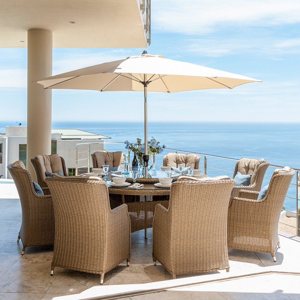 Nova – Thalia 8 Seat Rattan Dining Set – (View 15 of 25)