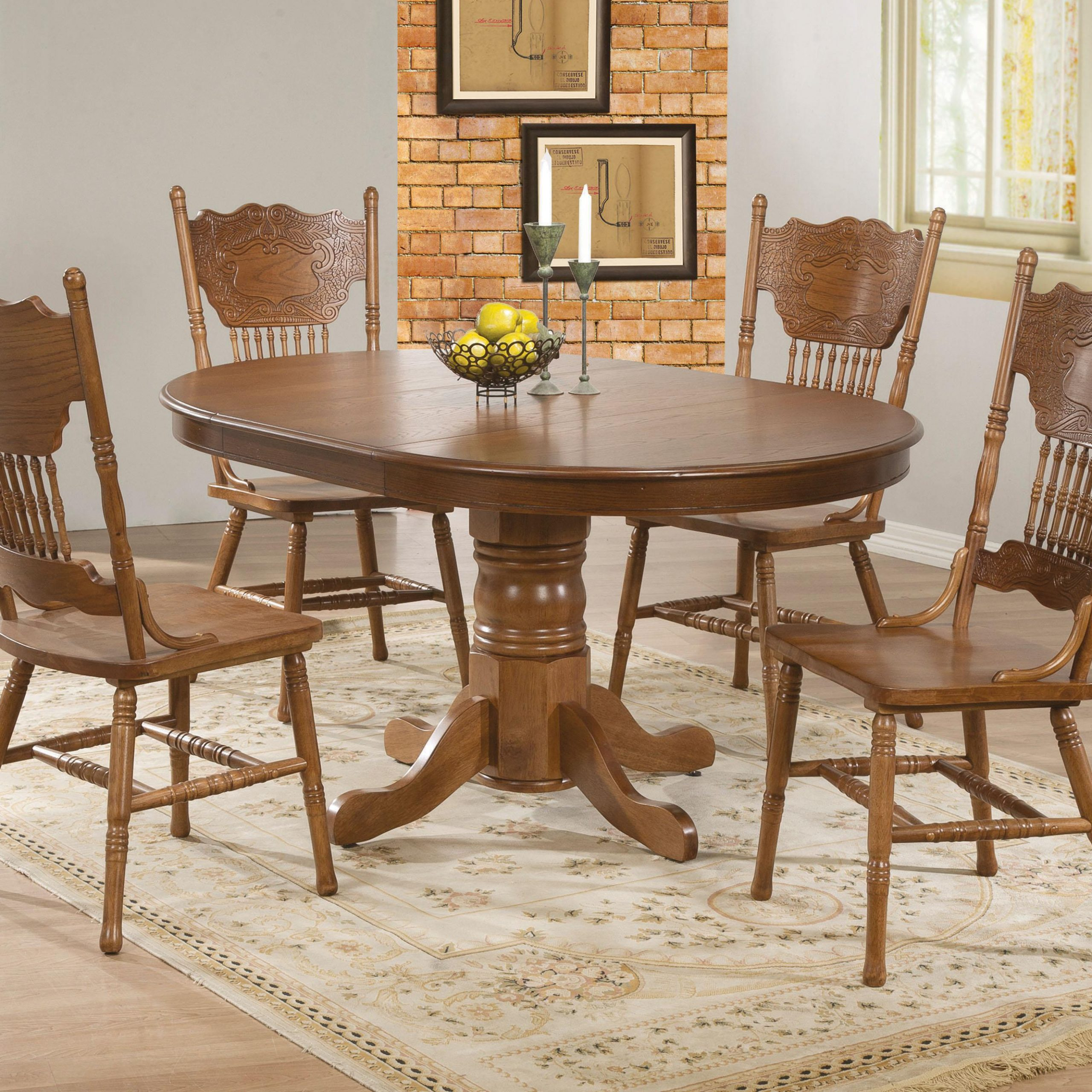 Oak Dining Table Chairs – Dining Table Ideas Throughout Most Current Brooks Round Dining Tables (View 4 of 25)