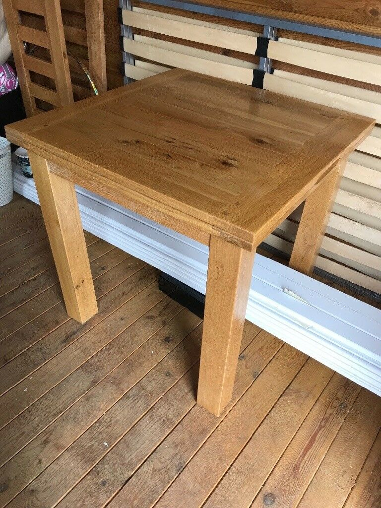Oak Dining Table Willis And Gambier Normandy Range 80Cmx80Cm Or 80Cmx160Cm | In Sidmouth, Devon | Gumtree With Regard To 2017 Normandy Extending Dining Tables (View 19 of 25)