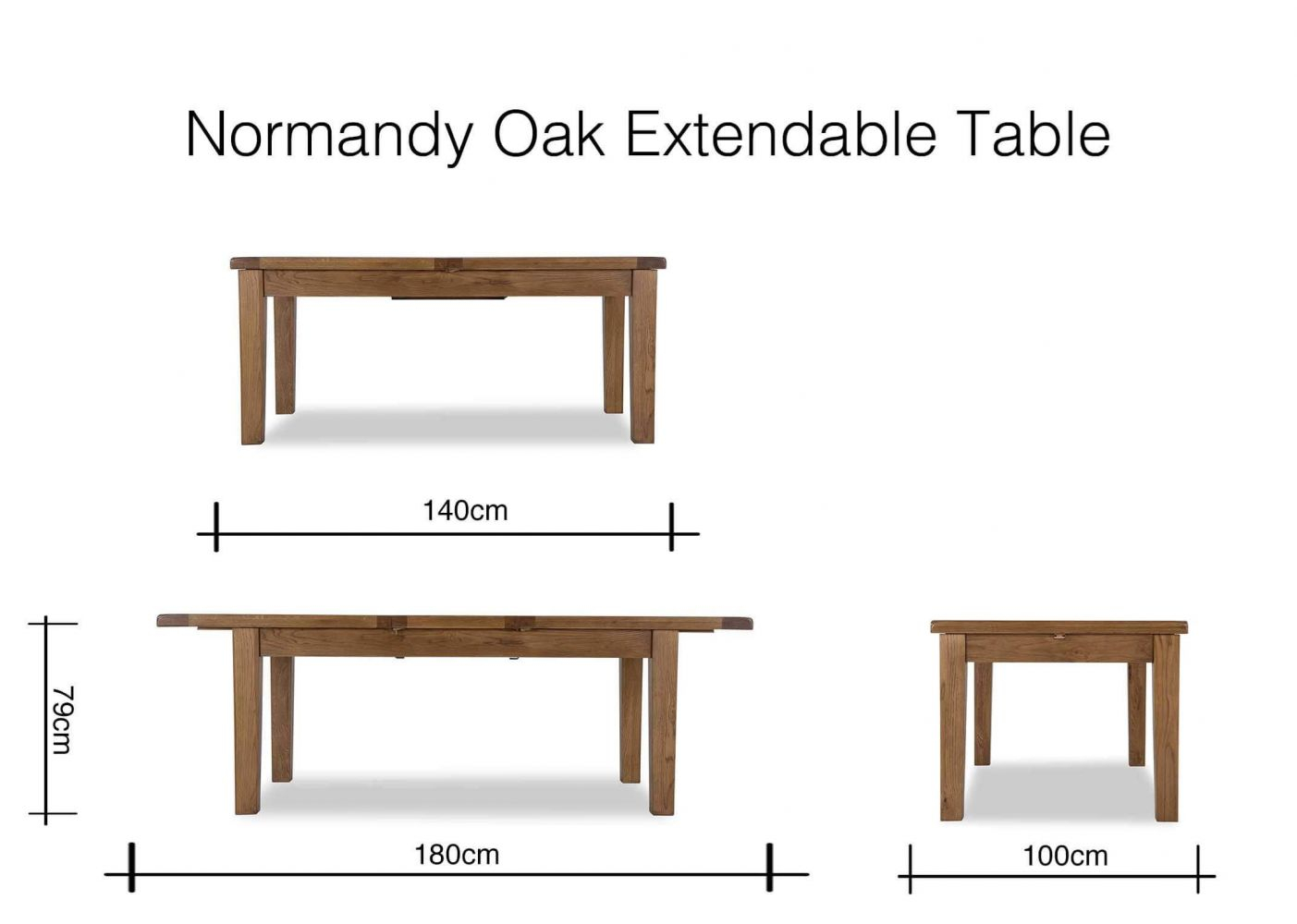 Oak Extendable Dining Table – Normandy Throughout Latest Normandy Extending Dining Tables (View 5 of 25)