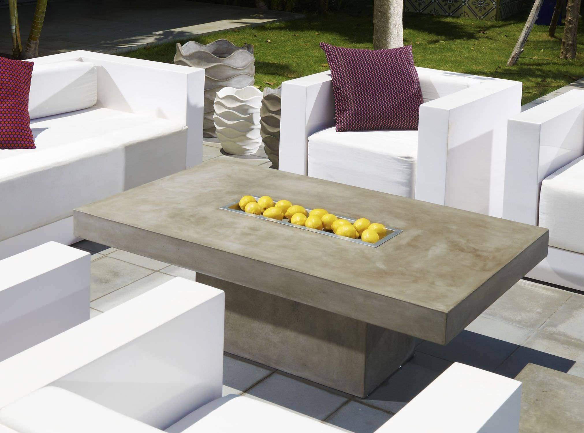 Oval Concrete Patio Table Outdoor Decorations Durable With Newest Chapman Round Marble Dining Tables (View 20 of 25)