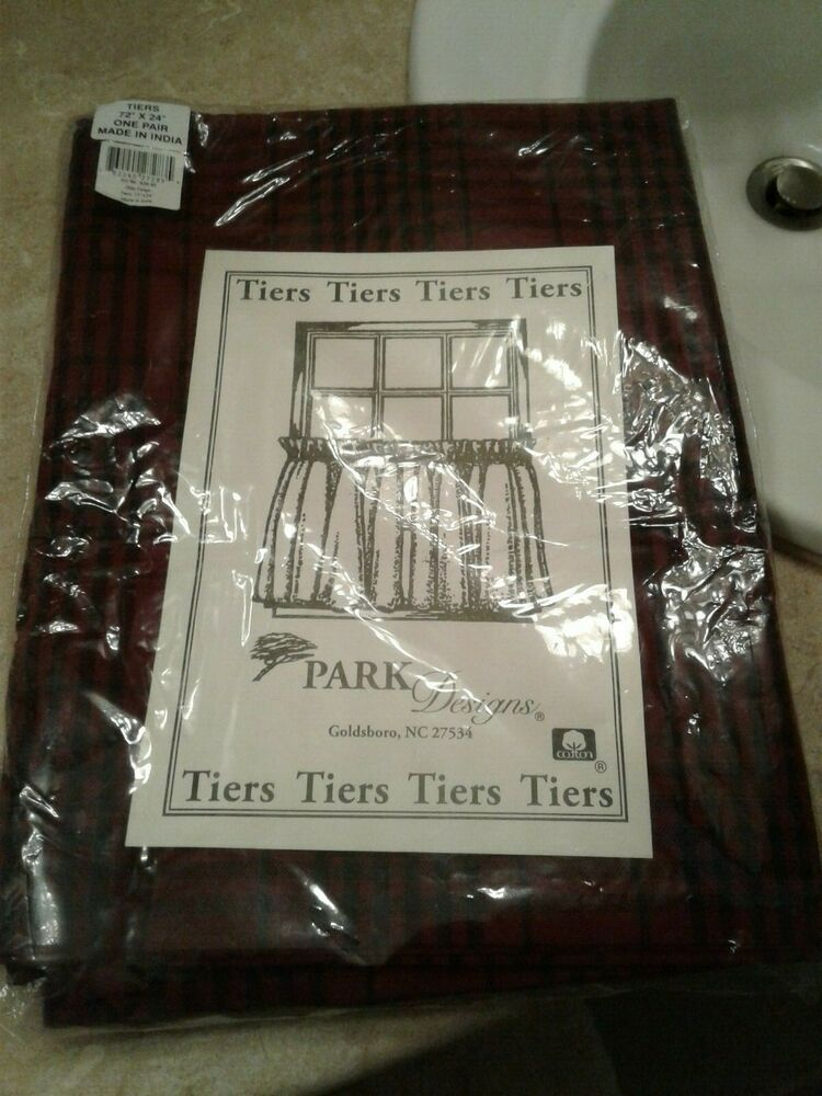 Park Designs Tiers Olde Forge 72 X 24 New | Ebay Pertaining To Dexter 24 Inch Tier Pairs In Green (View 5 of 25)