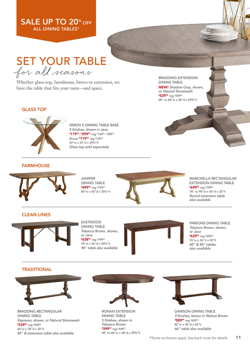 Pier 1 Imports – October 2017 Mailer – Pier 1 Dawson Walnut Intended For Recent Dawson Pedestal Dining Tables (Image 15 of 25)
