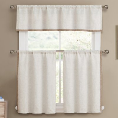Pin On Curtains In Solid Microfiber 3 Piece Kitchen Curtain Valance And Tiers Sets (View 11 of 25)