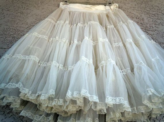 Pin On Pretty Petticoats In White Ruffled Sheer Petticoat Tier Pairs (View 16 of 25)