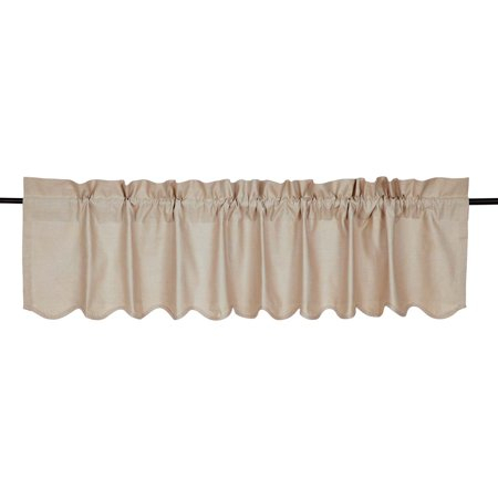 Featured Image of Rod Pocket Cotton Linen Blend Solid Color Flax Kitchen Curtains
