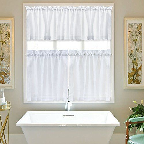 Pin On White Bathrooms Pertaining To Pintuck Kitchen Window Tiers (View 7 of 25)