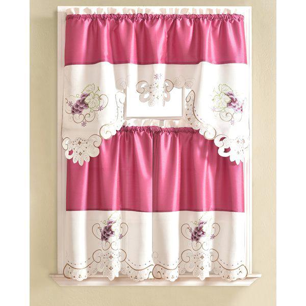 Pink Kitchen Curtain – Langau (View 17 of 25)