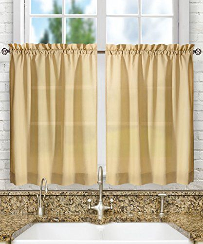 Pinmadeline Knoebel On Kitchen Curtain | Tier Curtains For Oakwood Linen Style Decorative Curtain Tier Sets (View 8 of 25)