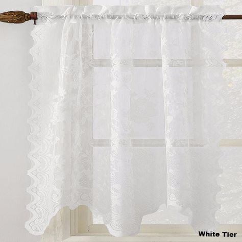 Pinterest – India With French Vanilla Country Style Curtain Parts With White Daisy Lace Accent (Image 19 of 25)