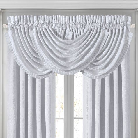 Pinterest Pertaining To Silver Vertical Ruffled Waterfall Valance And Curtain Tiers (View 22 of 25)