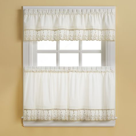 Pinterest Regarding French Vanilla Country Style Curtain Parts With White Daisy Lace Accent (Image 21 of 25)