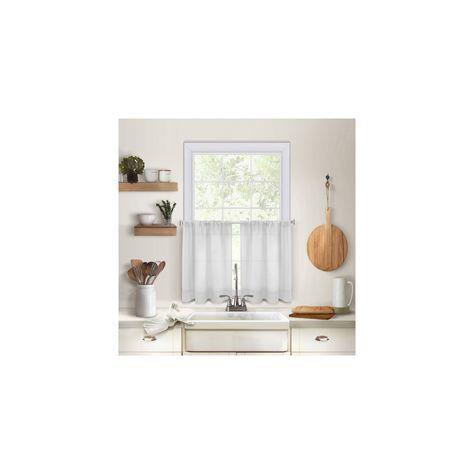 "Pintuck Kitchen Window Tier Set Of 2 – 30"" X 36"" – White In Pintuck Kitchen Window Tiers (View 3 of 25)"