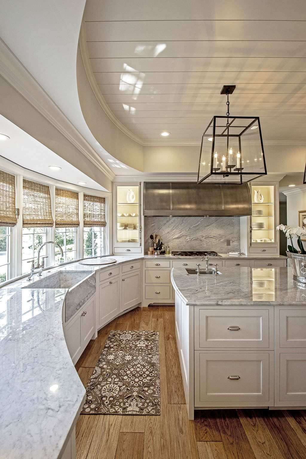 Pinvanessa Medina On Dream House | Pinterest | Light With Most Recently Released Upland Marble Kitchen Islands (Photo 22 of 25)
