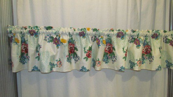 Pioneer Woman *country Garden*kitchen Valance Curtain Pertaining To Embroidered Ladybugs Window Curtain Pieces (View 13 of 25)