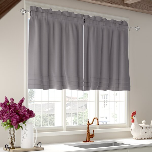 Pleated Cafe Curtains   Wayfair For Pleated Curtain Tiers (View 25 of 25)