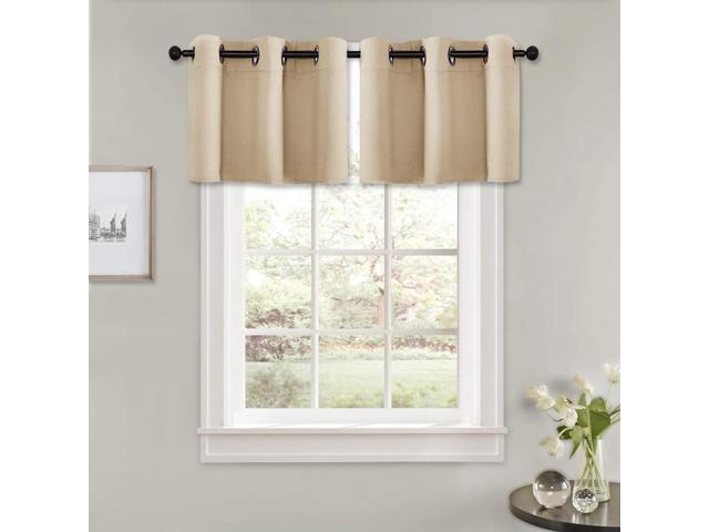 Pony Dance Window Curtain Valances – (4218 Inch, Biscotti Beige, Set Of 2) Modern Home Decorative Blinds Light Filter Window Tiers Short For In Light Filtering Kitchen Tiers (View 15 of 25)
