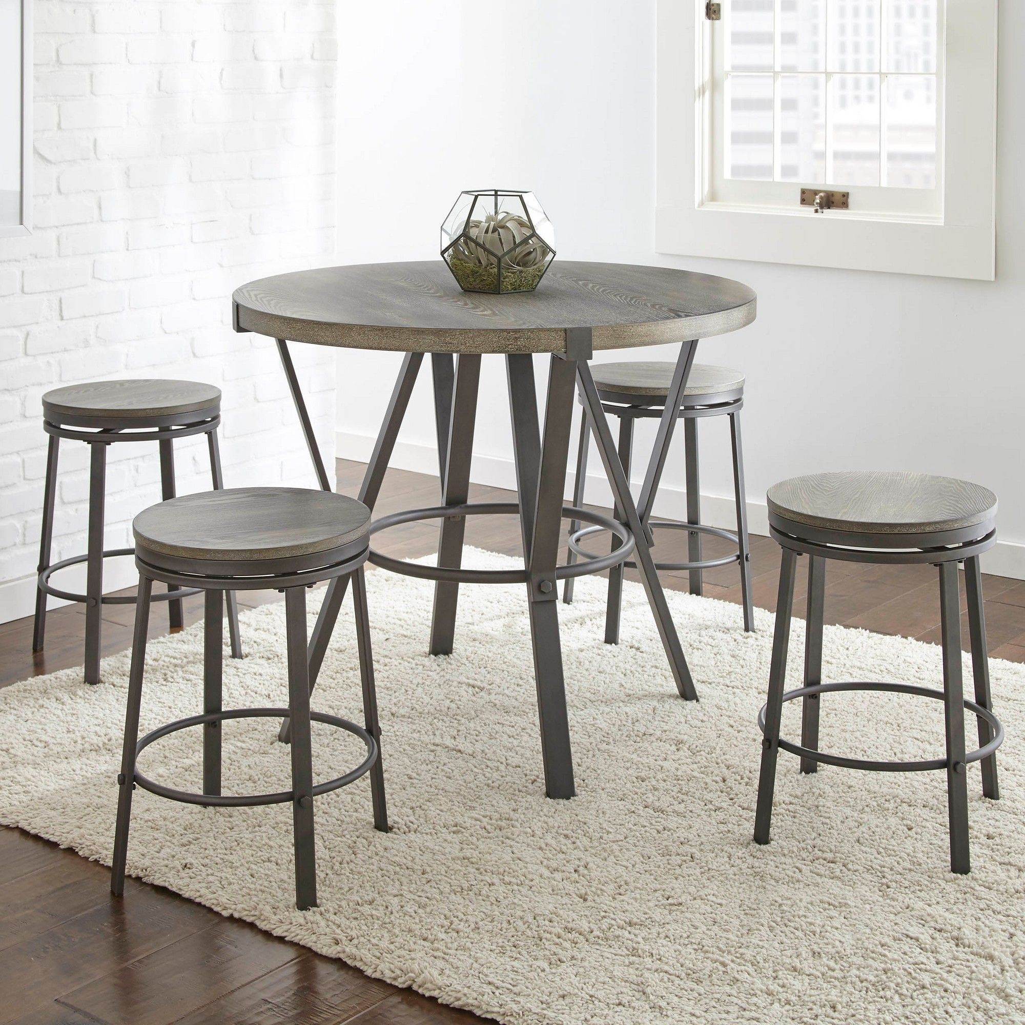 Portland Round Counter Table Gray – Steve Silver In 2019 Pertaining To Most Recent Griffin Reclaimed Wood Bar Height Tables (View 10 of 25)