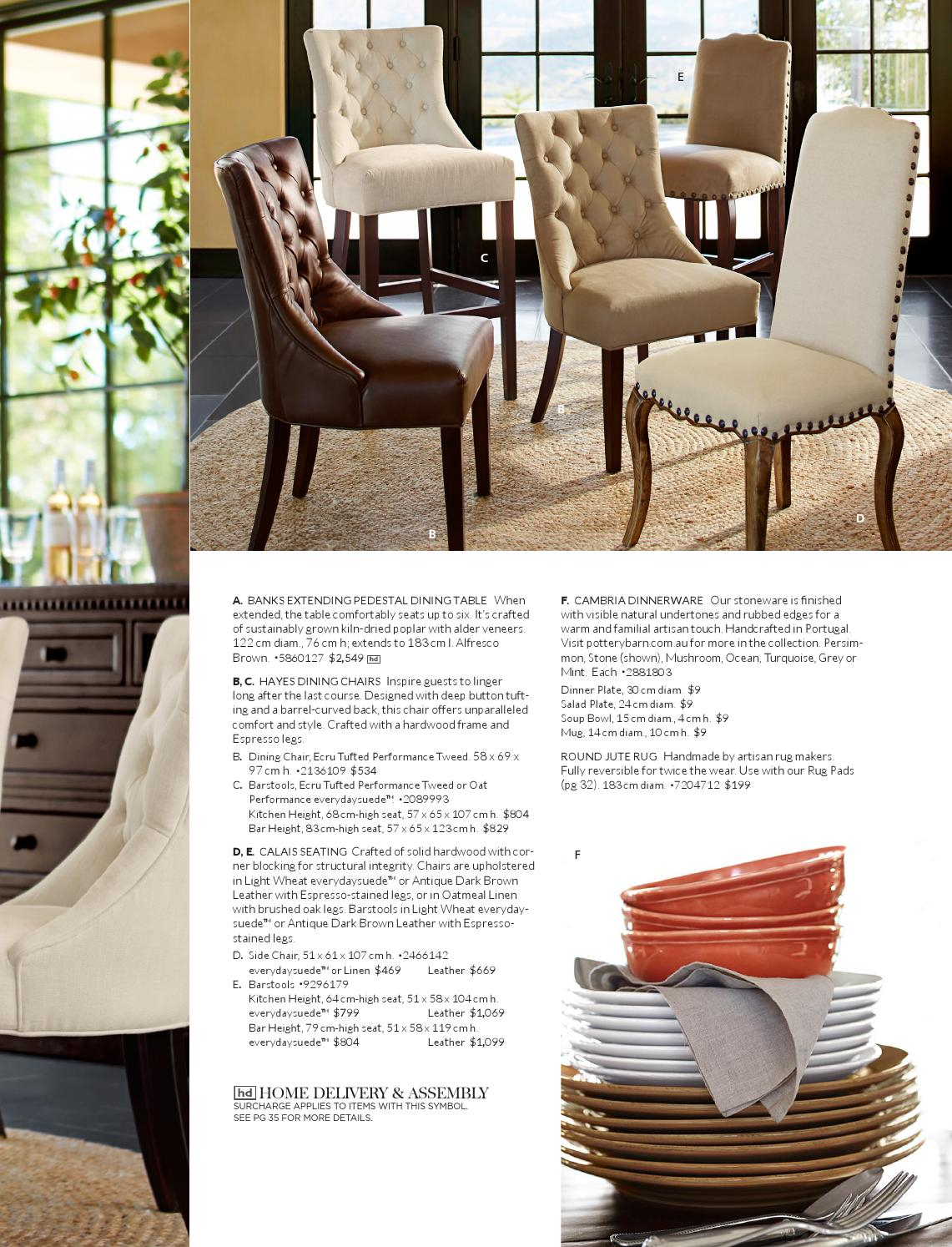 Pottery Barn Australia Autumn Catalogue 2015Williams Within Most Recent Alfresco Brown Banks Pedestal Extending Dining Tables (View 19 of 25)