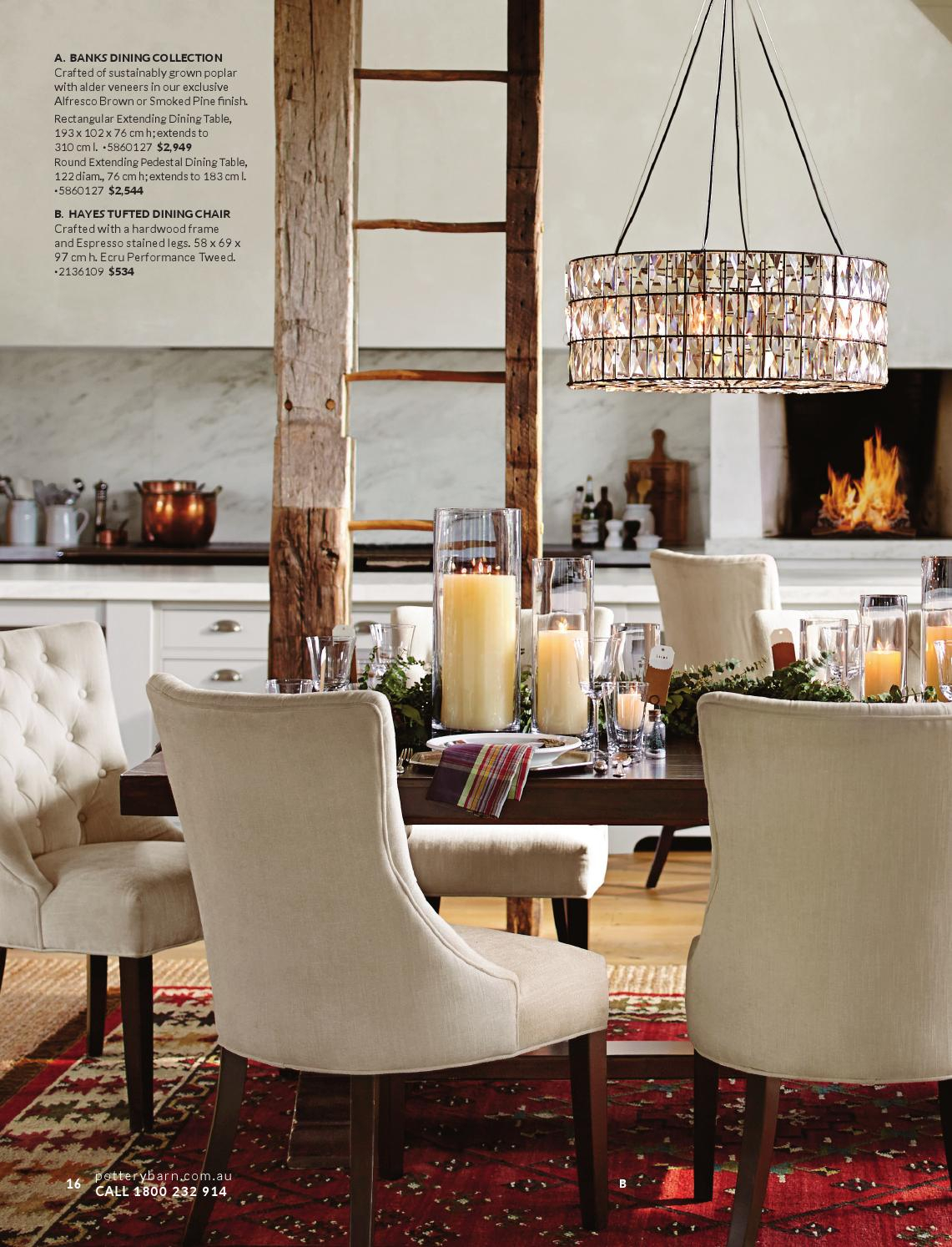 Pottery Barn Australia | Christmas Catalogue 2015 In Most Recently Released Alfresco Brown Banks Pedestal Extending Dining Tables (View 9 of 25)