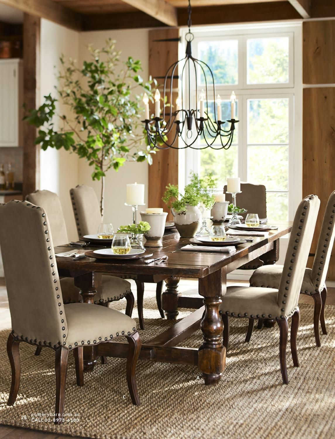 Pottery Barn Australia Summer 2013 Catalog | Dining Room Within Latest Bowry Reclaimed Wood Dining Tables (View 10 of 25)