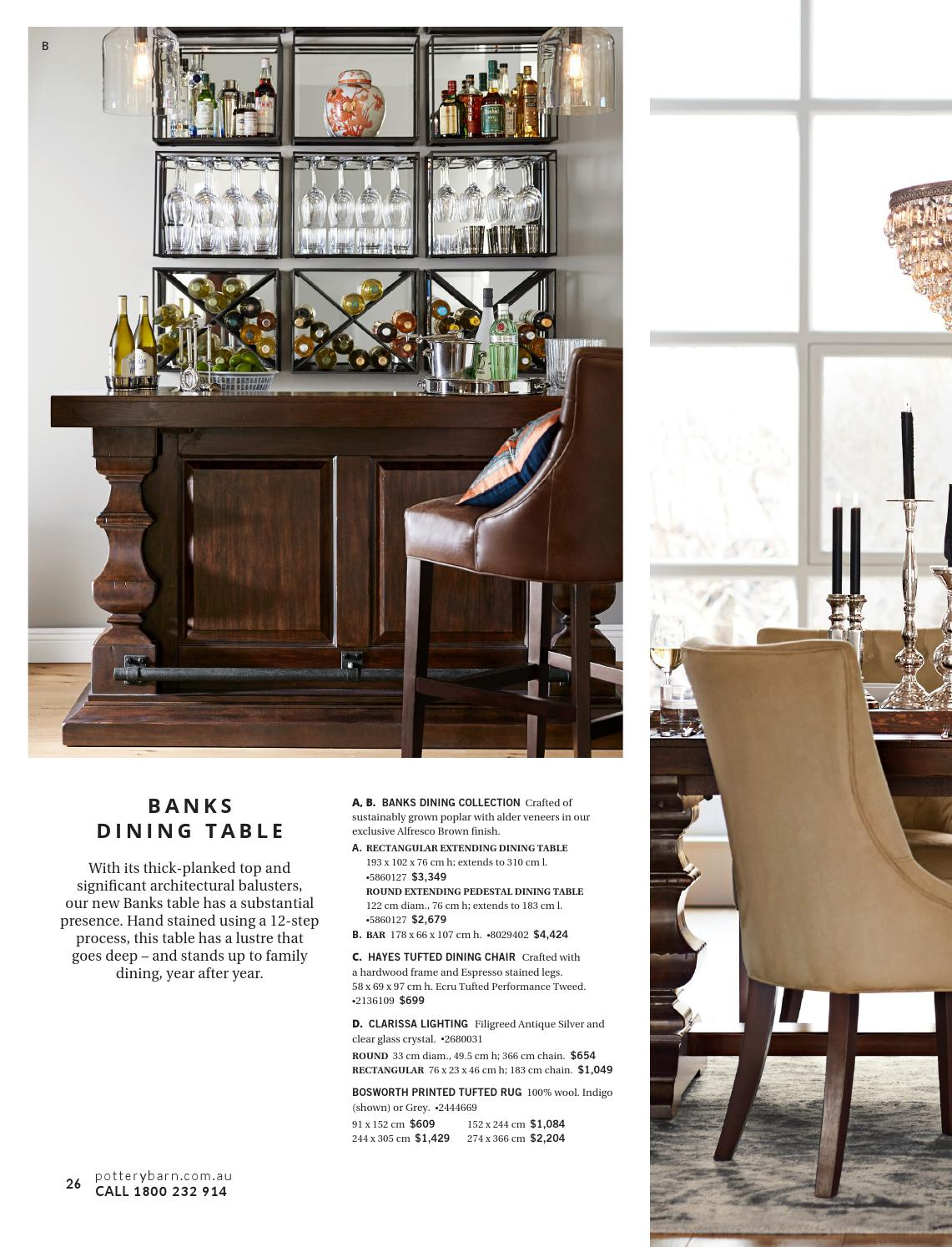 Pottery Barn Australia | Winter Catalogue 2016Williams With Regard To 2017 Alfresco Brown Banks Pedestal Extending Dining Tables (View 10 of 25)