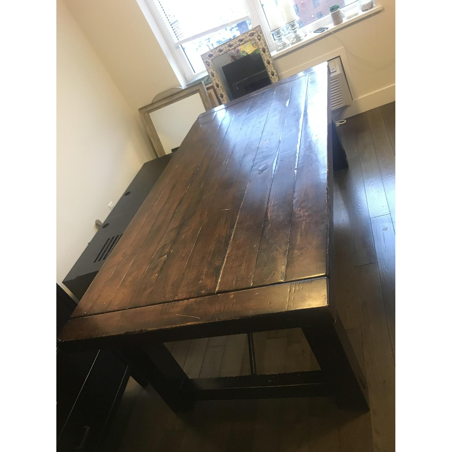 Pottery Barn Benchwright Dining Table – Aptdeco For Most Current Benchwright Bar Height Dining Tables (View 12 of 25)