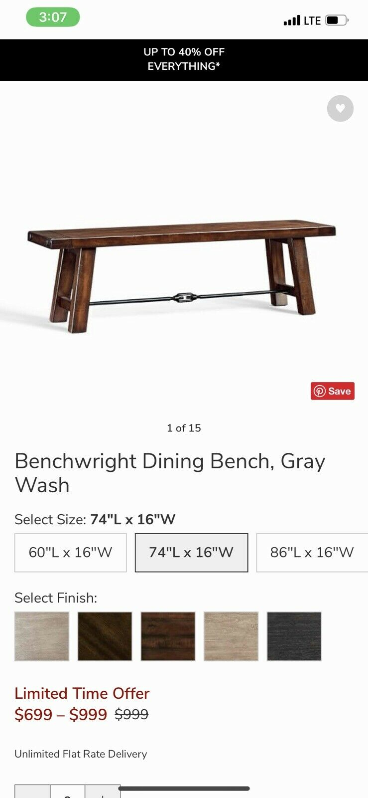 Pottery Barn Benchwright Mahagony Stained Dining Bench Regarding 2017 Blackened Oak Benchwright Dining Tables (Image 22 of 25)