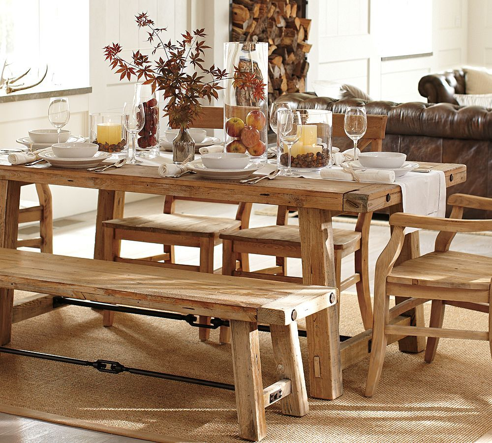 Pottery Barn Benchwright Reclaimed Wood Dining Table | For Regarding Most Current Rustic Mahogany Benchwright Dining Tables (View 8 of 25)