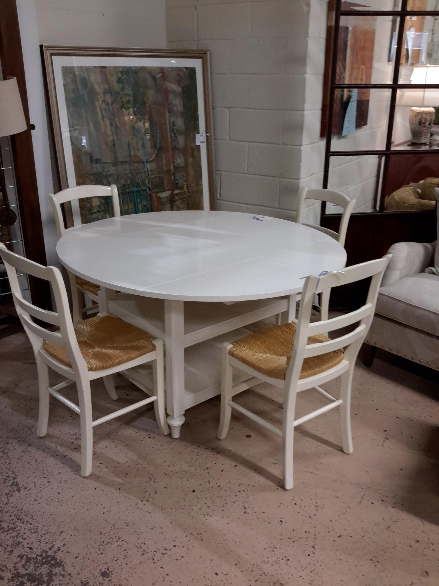 Pottery Barn Drop Leaf Table & 4 Chairs – The Millionaire's Inside Recent Mahogany Shayne Drop Leaf Kitchen Tables (View 14 of 25)