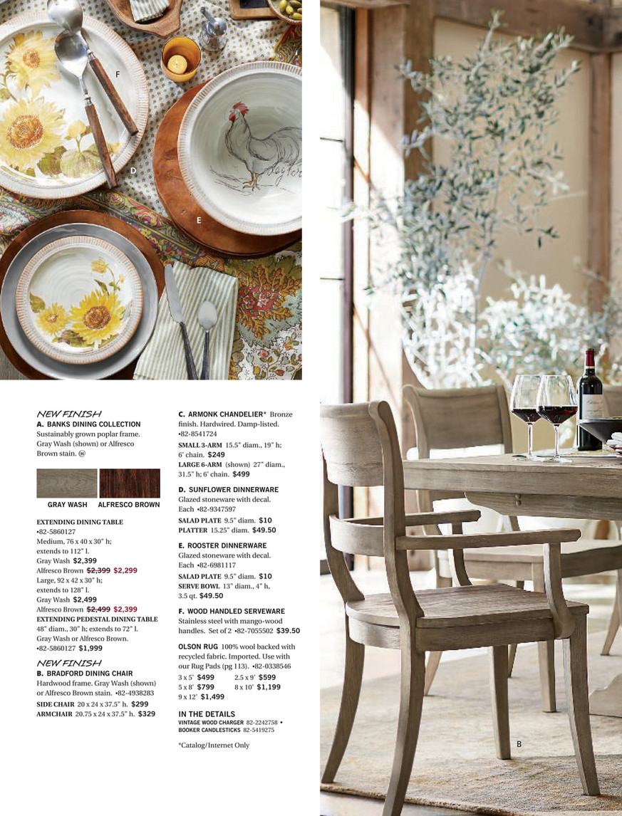 Pottery Barn – Fall 2017 D1 – Barrel Top Lazy Susan Throughout Most Current Seadrift Banks Extending Dining Tables (View 17 of 25)