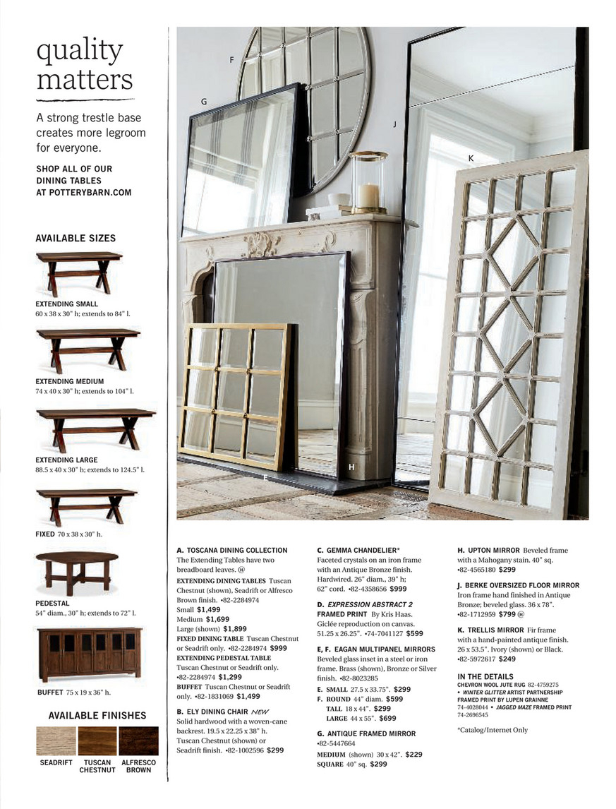 Pottery Barn – Fall 2017 D1 – Toscana Extending Dining Table Throughout Recent Seadrift Toscana Extending Dining Tables (View 22 of 25)