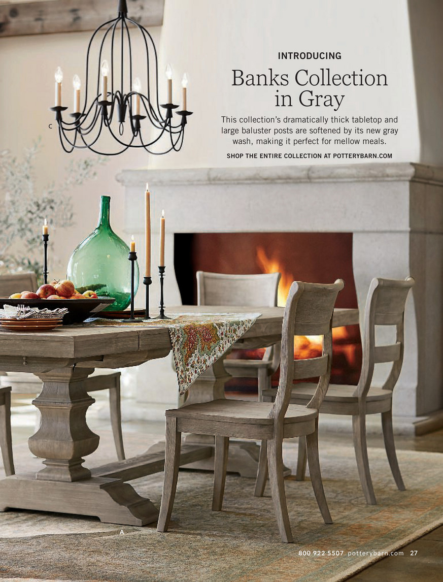 Pottery Barn – Fall 2017 D2 – Banks Extending Dining Table Pertaining To Latest Gray Wash Livingston Extending Dining Tables (View 3 of 25)