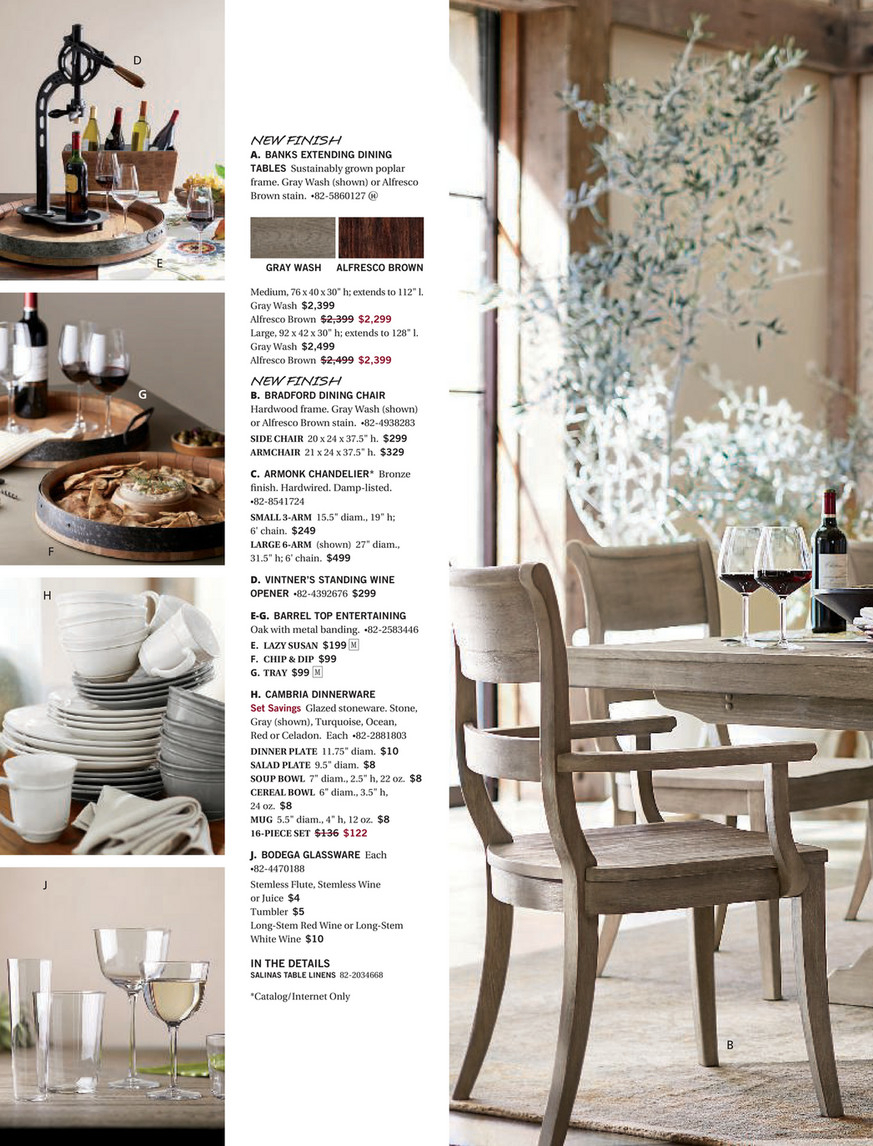 Pottery Barn – Fall 2017 D2 – Banks Extending Dining Table Within Most Up To Date Brown Wash Livingston Extending Dining Tables (View 9 of 25)
