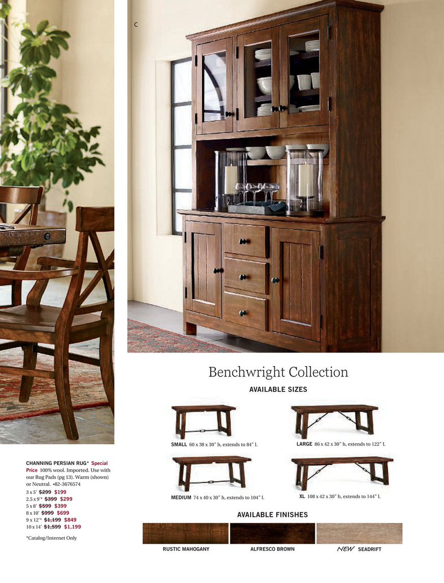 Pottery Barn – Fall 2017 D2 – Benchwright Extending Dining For Latest Rustic Mahogany Benchwright Dining Tables (View 10 of 25)