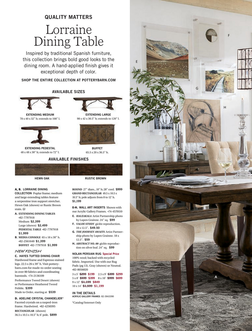 Pottery Barn – Fall 2017 D2 – Lorraine Extending Dining With Regard To 2017 Rustic Brown Lorraine Extending Dining Tables (View 6 of 25)