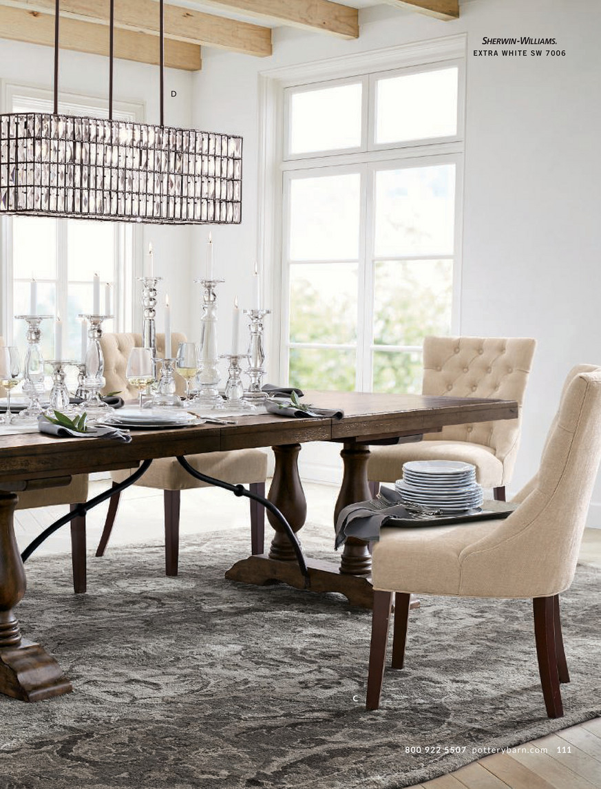 Pottery Barn – Fall 2017 D2 – Lorraine Extending Dining With Regard To Latest Rustic Brown Lorraine Pedestal Extending Dining Tables (View 6 of 25)