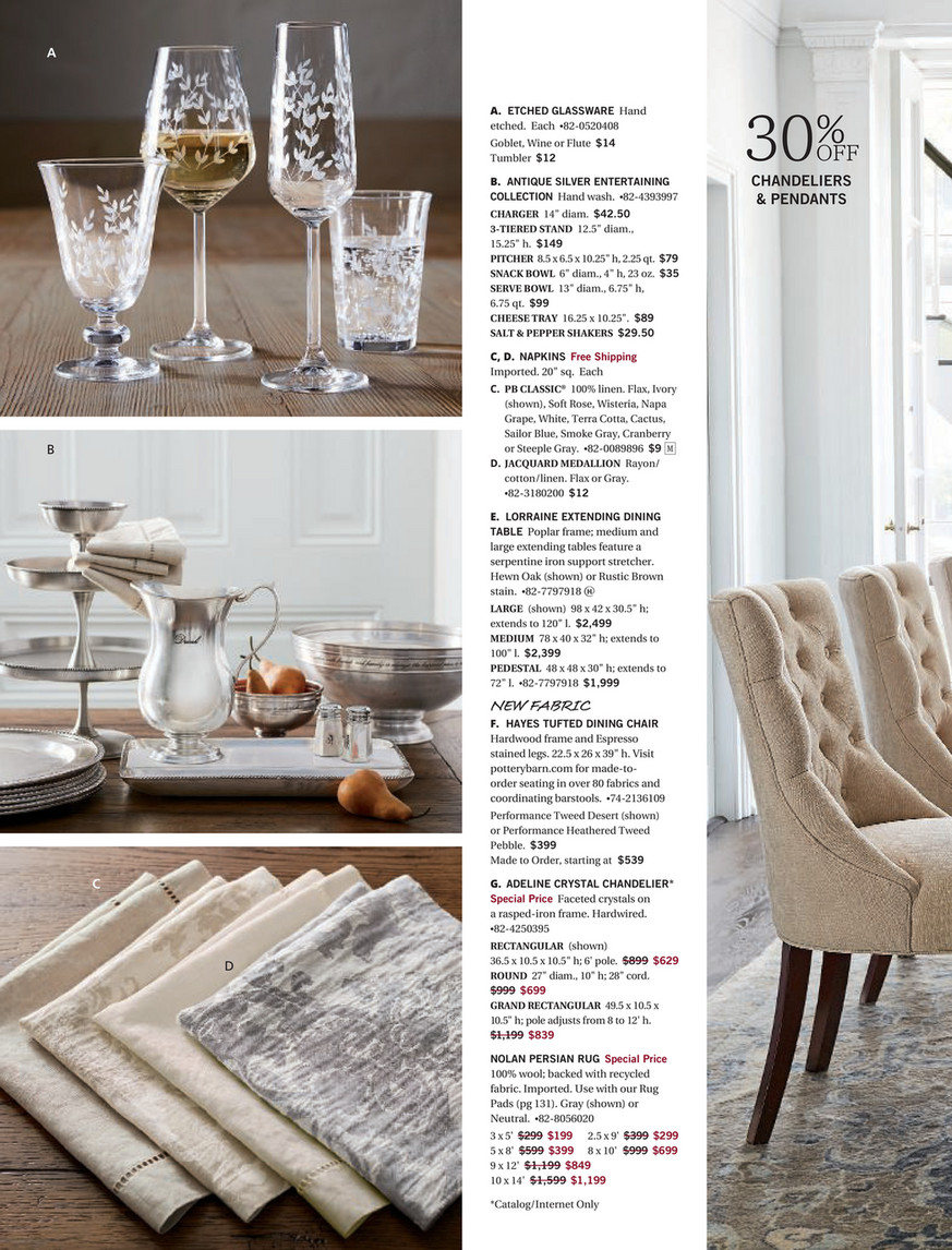 Pottery Barn – Fall 2017 D3 – Lorraine Extending Dining With Regard To Latest Gray Wash Lorraine Extending Dining Tables (View 9 of 25)