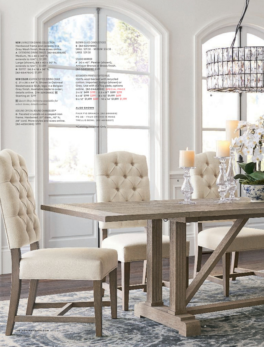 Pottery Barn – Fall 2018 D2 – Page 140 141 With 2017 Gray Wash Livingston Extending Dining Tables (View 6 of 25)