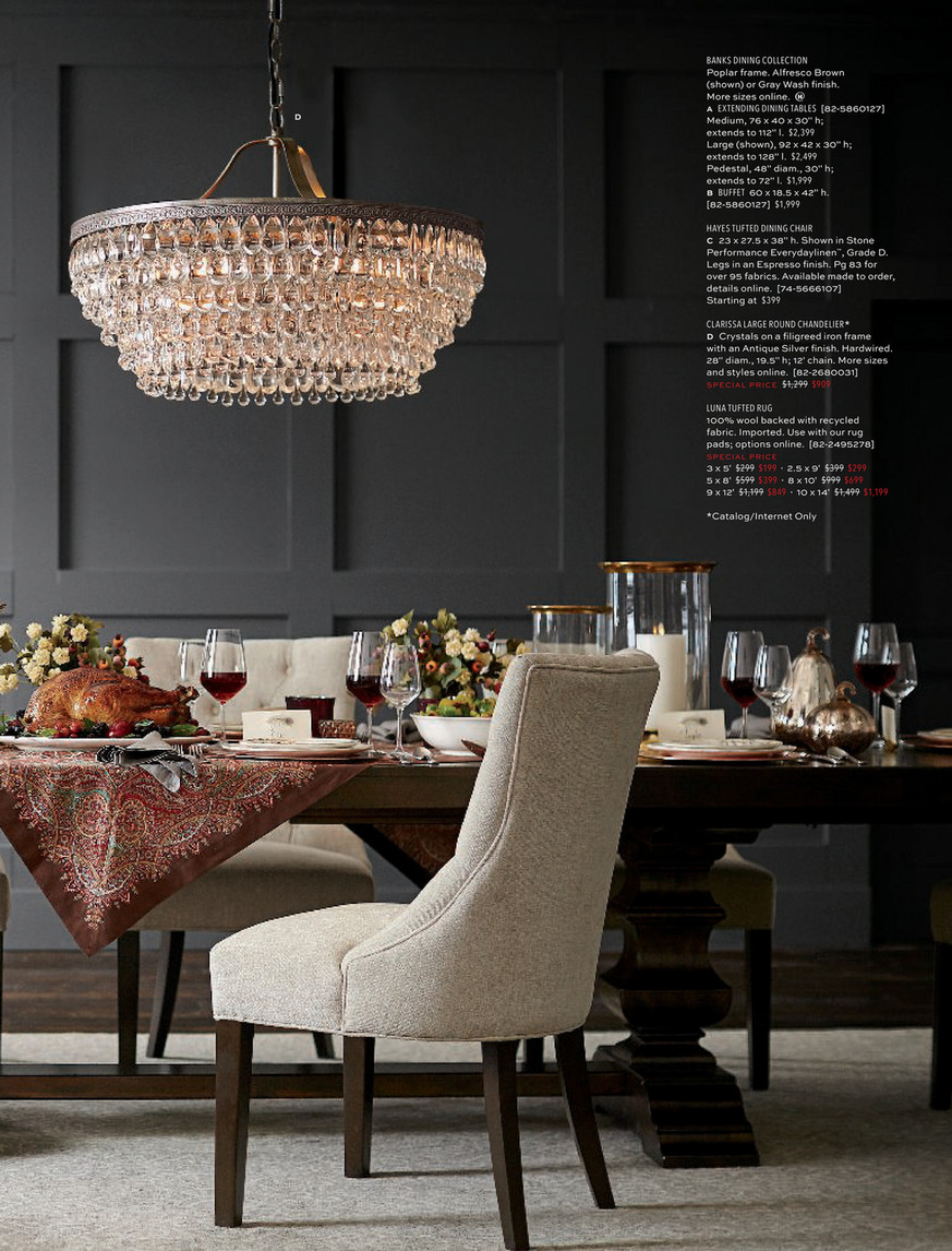 Pottery Barn – Fall 2018 D3 – Page 28 29 Regarding 2017 Gray Wash Banks Extending Dining Tables (View 5 of 25)