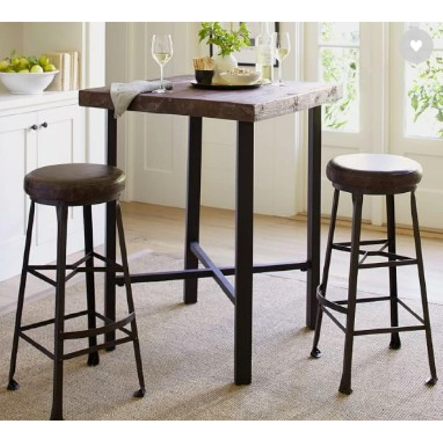 Pottery Barn Griffin Bar Table W/ 4 Stools – Aptdeco In Most Popular Griffin Reclaimed Wood Bar Height Tables (View 25 of 25)
