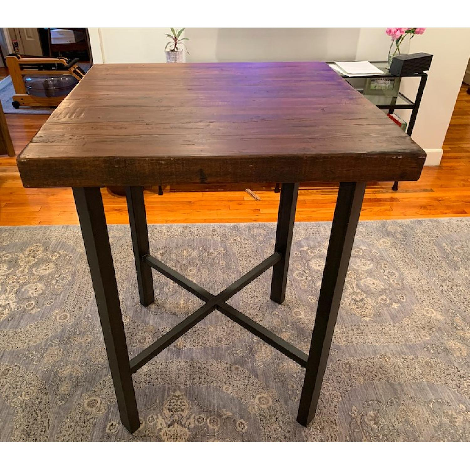 Pottery Barn Griffin Bar Table W/ 4 Stools – Aptdeco Inside Newest Griffin Reclaimed Wood Dining Tables (View 23 of 25)