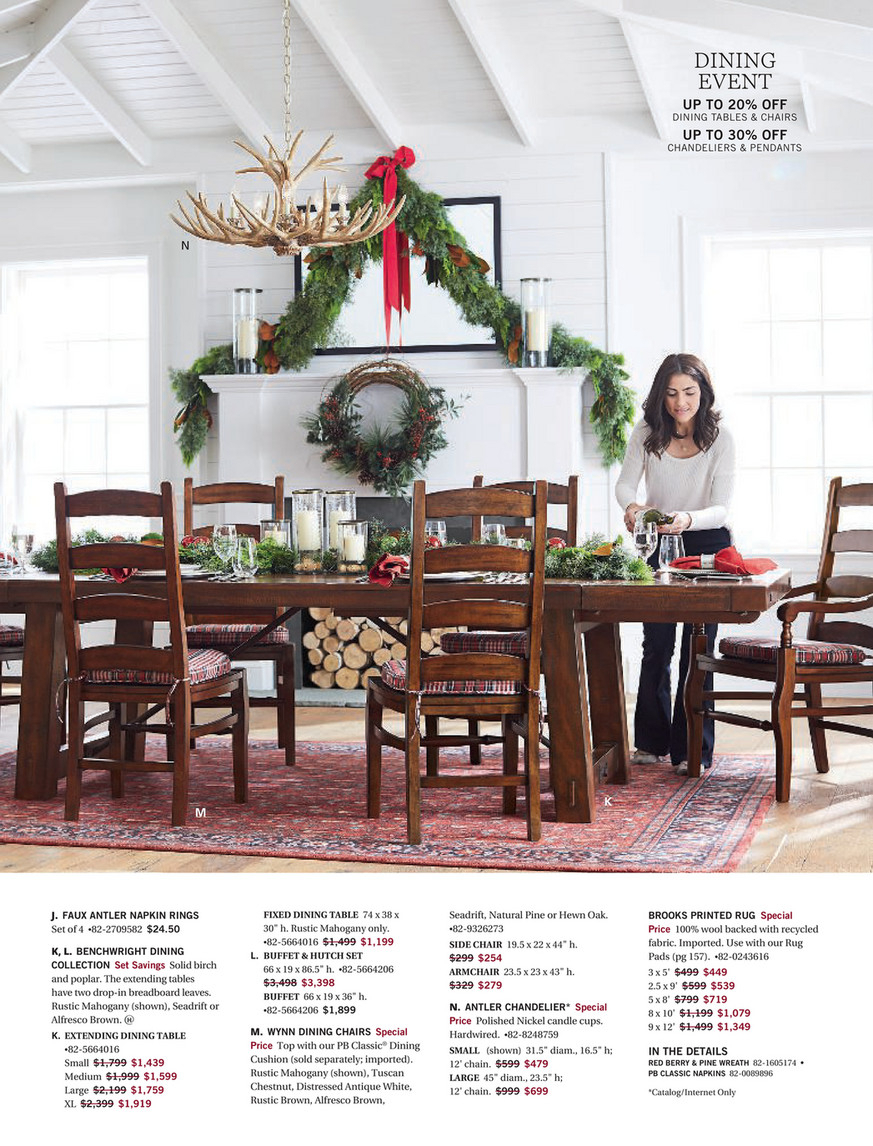 Pottery Barn – Holiday 2017 D1 – Benchwright Extending Regarding Recent Alfresco Brown Benchwright Extending Dining Tables (View 2 of 25)